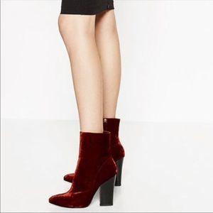 Zara Burgundy booties
