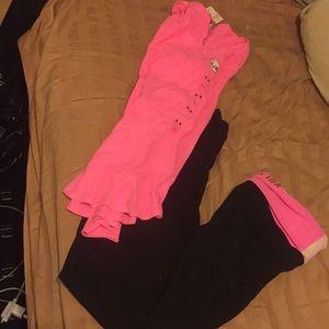Pink Leggings And Top