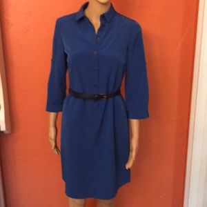 The Limited royal blue shirt dress