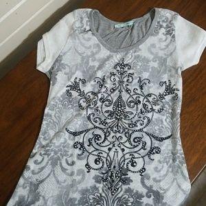 Maurices shirt grey, white, black