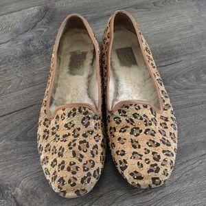 UGG Leopard/cheetah print flats size 9