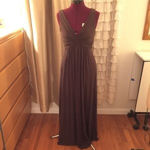 BCBG brown Knit Gown size small
