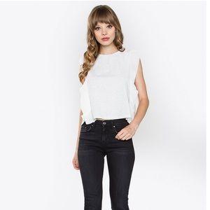 NWT Sugar Lips ruffle sleeve blouse