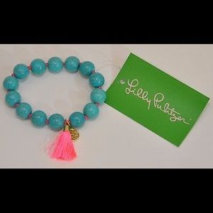 Lilly Pulitzer Coral Reef Bracelet Seaside Aqua