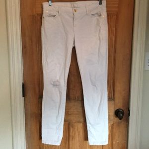 7 for all mankind white distressed jeans