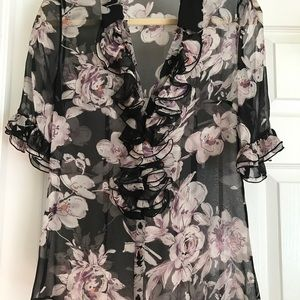 Anne Fontaine Floral Blouse