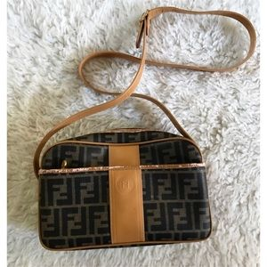 Vintage Classic Fendi Logo Camera Shape Purse