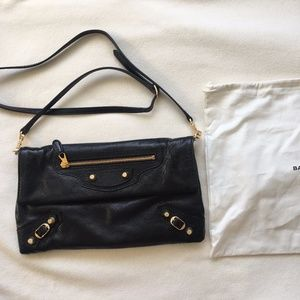 Balenciaga Giant 12 Envelop clutch black like new