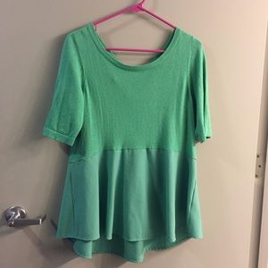 Anthropologie green blouse