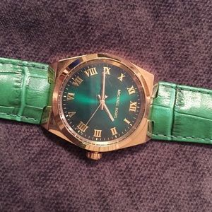 Michael Kors green leather watch.l