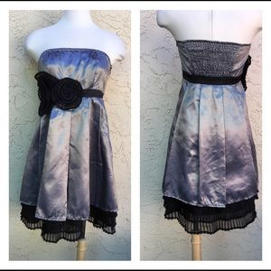 Silver Gray/ Black Cocktail Dress