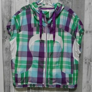 Lululemon Run With It Plaid Vest Jacket 12