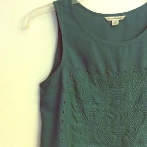 AEO Embroidered Beaded Tank Top