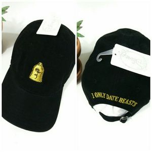 Beauty & the Beast Black & Gold Enchanted Rose Hat
