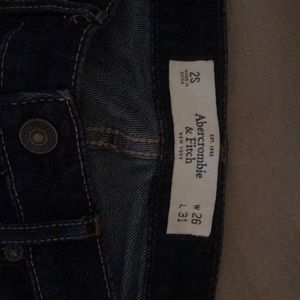 Abercrombie & Fitch dark blue boot cut jeans