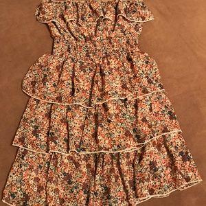 Size M Rue21 Layered Ruffle Tube Dress