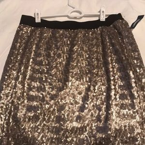 New with tags Gold sequin skirt