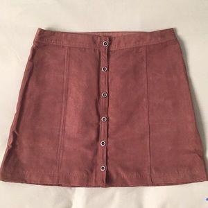Hollister suede high waist mini skirt