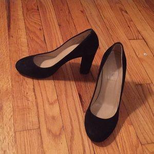 """Black suede Jcrew 4"""" heels"""