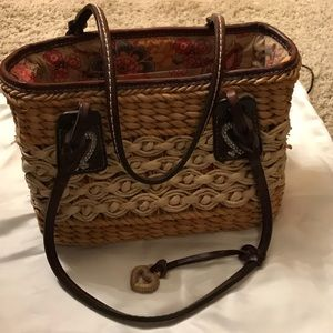Brighton basket weave satchel
