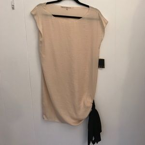 Rachel Roy Nude Dress with black bow NWT size 6