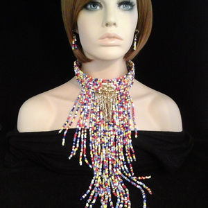 Jewelry - Chunky Large Multi Color Beaded Bohemian Necklace