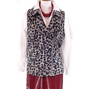 Jolt Grey Leopard Print Vest-Small-NWT
