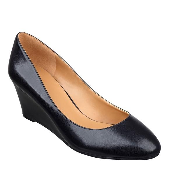 1942c38173 Nine West Shoes | Nib Ispy Black Wedge Us 55 | Poshmark
