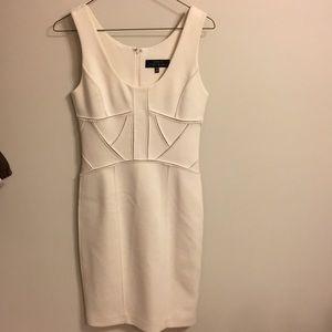 Robert Rodriguez off white pencil dress
