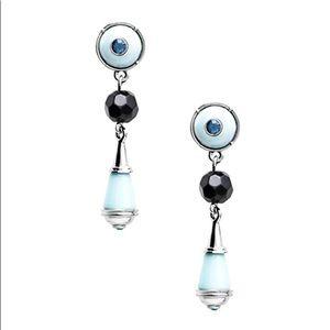 NIB Jewelmint Majestic Blue Drop Earrings evil eye