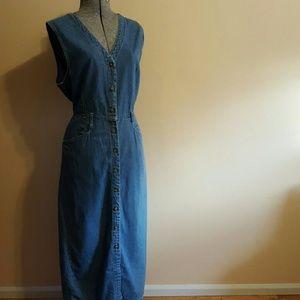 Vintage Denim Button-Up Dress