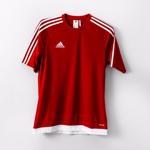 Red Climalite Soccer Jersey