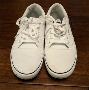 White Canvas Vans
