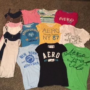 Aeropostale t-shirts and tank tops