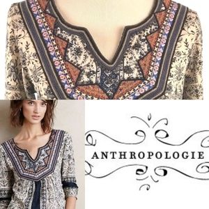 Akemi & Kin ANTHROPOLOGIE Peasant Top Sz S (S8)
