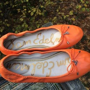 Sam Edelman Felicia Ballet Flats in Orange
