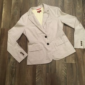 Striped Jacket Blazer Career