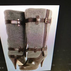 COLE HAAN Air Kennedy 7.5 Gray and brown boot