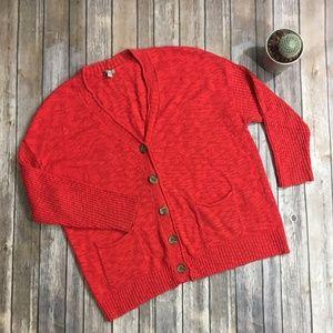 ⬇️$38⬇️ J. Jill coral button cardigan sweater
