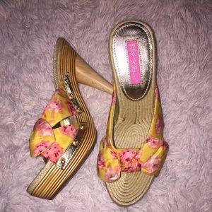 Betsey Johnson Sandal Heels 7.5
