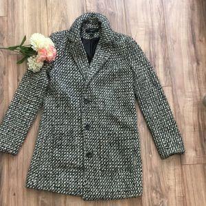Forever 21 Long Blazer Rug Coat Small