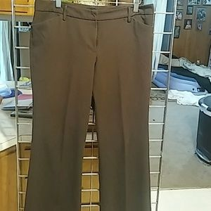 Chocolate brown slacks