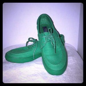 Polo Ralph Lauren green boat shoes