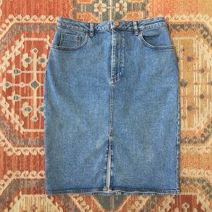 ASOS Denim Slit Skirt