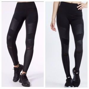 Alo High Waisted Moto Leggings New With Tags
