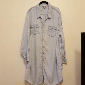 Ava & Viv chambray buttondown shirt dress