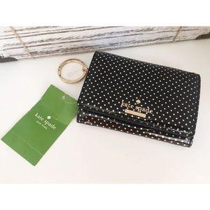 NWT! Kate spade polka dot wallet