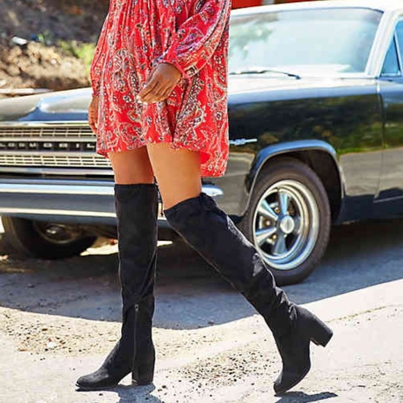 15c31cde0a8 ... knee boots in BLACK  DEDRII  style. M 5a10c8f97fab3a714c0405c3
