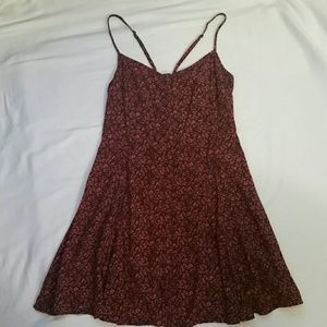 American Eagle Crimson Floral Slip Dress Size M
