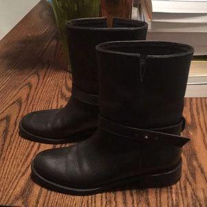 madewell motorcycle boots euc